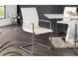 Krzesło Stanley z podłokietnikami - biały