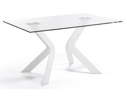 LaForma :: Stół VIRGINIA 150 x 90 cm Szklany, Nogi Epoksydowe Białe