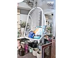 HK Living :: Wiszący fotel rattanowy (biały)