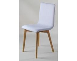 GRIM krzesło drewniane dębowa rama, szara tapicerka 0100