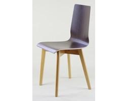 LUKA W krzesło laminowane wenge, bukowa rama
