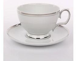Filiżanka śniadaniowa ze spodkiem porcelana MariaPaula Platynowa Linia