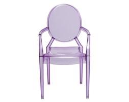 Krzesło Royal Jr fioletowy transparentny