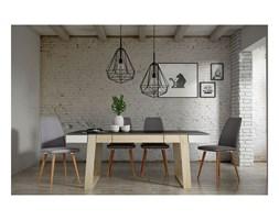 Krzesło bodo tapicerowane okrągłe drewniane nogi styl skandynawski