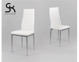 BIAŁE krzesło z ekoskóry MALOWANE nogi - Biały