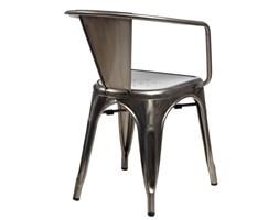 Krzesło Paris Arms w kolorze metalu insp irowane Tolix - Metal