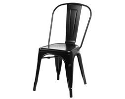 Krzesło Paris czarne inspirowane Tolix - Czarny