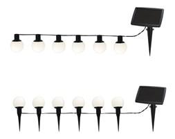 BALLS COMBO - Girlanda zewnętrzna Solarna 6-punktowa Biały LED do wbicia lub zawieszenia Dł. 5m