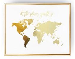Mapa świata - oh the places you'll go