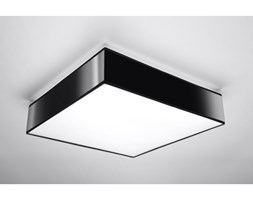 Elegancka Lampa Sufitowa Plafon HORUS 45 Czarny Kwadrat