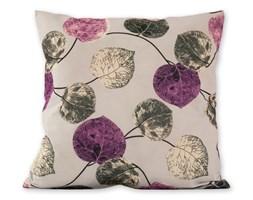 jahu Poszewka na poduszkę Klasic listki fioletowy, 45 x 45 cm