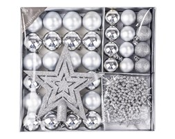 Zestaw na choinkę Luxury, srebrny