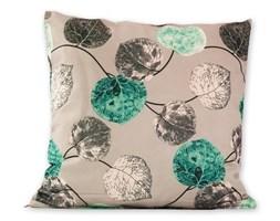 jahu Poszewka na poduszkę Klasic listki turkusowy, 45 x 45 cm