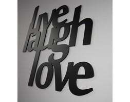 Dekoracyjny napis na ścianę LIVE LAUGH LOVE by DekoSign