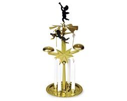 Ruchoma dekoracja, świecznik z dzwonkami złoty,