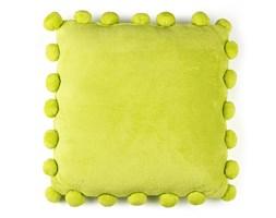 BO-MA Poduszka jasiek Pompon zielony, 45 x 45 cm