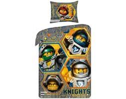 Halantex Dziecięca pościel bawełniana Lego Nexo 378, 140 x 200 cm, 70 x 90 cm