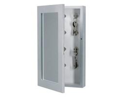 WOOOD :: Półka na klucze z lustrem Studio (12 haczyków) - szara