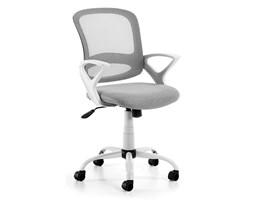 Fotel biurowy PLOTTI biały, szare siedzisko