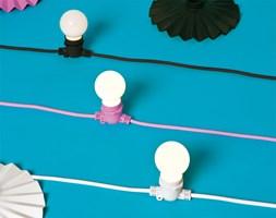 Seletti :: Lampki ogrodowe Bella Vista różowy kabel (mleczne żarówki LED)