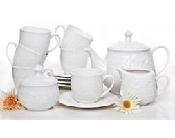 Serwis kawowy HEMINGWAY na 6 osób (15 el.) -- biały - rabat 10 zł na pierwsze zakupy!