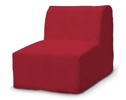 Dekoria Pokrowiec na fotel Lycksele prosty, czerwony szenil, fotel Lycksele, Chenille