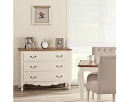 Dekoria Komoda Dorothee 3 szuflady, white&natural, 86x45x107cm