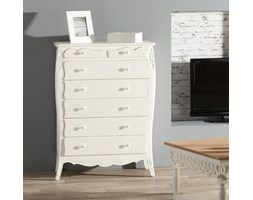 Dekoria Komoda Annabelle 81x40x110cm, white, 81x40x110cm