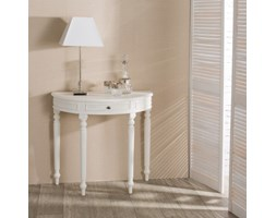 Dekoria Konsola Anabell biała, 80x40,5x75,5cm