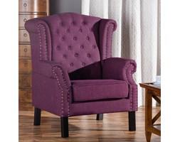 Dekoria Fotel Winchester Violet, 87x78x110cm
