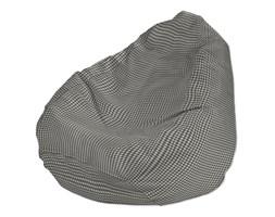 Dekoria Worek do siedzenia, szaro biała krateczka (0,5x0,5cm), Ø50x85 cm, Quadro