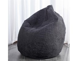 Dekoria worek do siedzenia Black, fi50x85cm