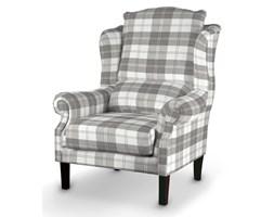 Dekoria Fotel, krata szaro-biała, 85x107cm, Edinburgh