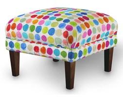 Dekoria Podnóżek do fotela, kolorowe kropy na białym tle, 56x56x40 cm, New Art