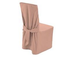 Dekoria Sukienka na krzesło, łososiowy w delikatne prążki, 45x94 cm, Taffeta
