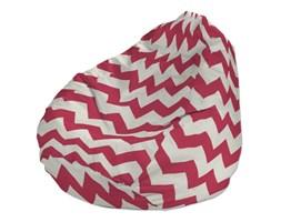 Dekoria Pokrowiec na worek do siedzenia, różowo-białe zygzaki, pokrowiec Ø50x85cm, Comics