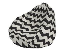 Dekoria Pokrowiec na worek do siedzenia, czarno-białe zygzaki, pokrowiec Ø60x105cm, Comics