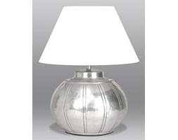 Lampa stołowa z mosiądzu w kolorze srebrnym