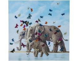 Obraz Touched Elefants with Butterflys Kare Design 39251