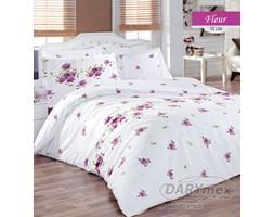 Komplet pościeli bawełnianej Fleur Lila Premium 160x200