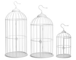 3 klatki dla ptaków 72 cm białe
