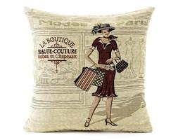 BO-MA Poszewka na poduszkę-jasiek Gobelin kobieta przed sklepem