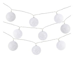 Lampki LED białe kulki