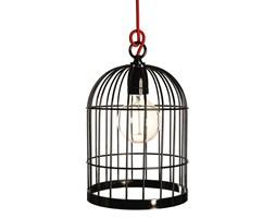 BIRDCAGE - Lampa stojąca lub wisząca Czarny kabel Czerwony Wys.33cm