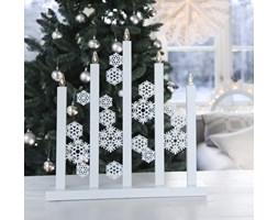 SNOWFLAKE - Girlanda Płatki śniegu LED Drewno Biały Wys.48cm