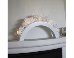 SNAWFALL - Świecznik LED Płatki śniegu Biały Drewno Wys.54cm