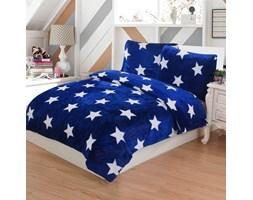 Jahu Pościel pluszowa Stars niebieski, 140 x 200 cm, 70 x 90 cm