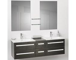 Meble łazienkowe czarne - 2 umywalki ceramiczne + 2 lustra - MADRID