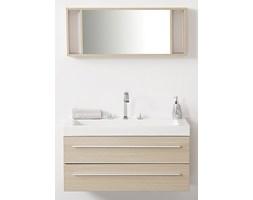 Meble łazienkowe beżowe - szuflady - umywalka - lustro - BARCELONA