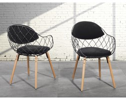 Krzesło do jadalni czarne - fotel - METROPOLITAN